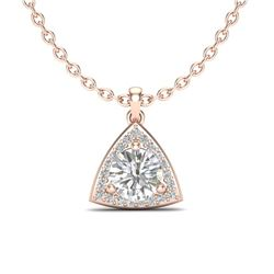 1.50 CTW VS/SI Diamond Certified Necklace 14K Rose Gold - REF-381T5X - 20523