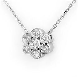 0.25 CTW Certified VS/SI Diamond Necklace 18K White Gold - REF-35F5M - 10675