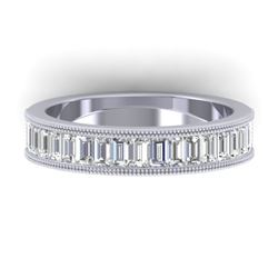 1.50 CTW Baguette Certified VS/SI Diamond Art Deco Eternity 14K White Gold - REF-161W8H - 30318