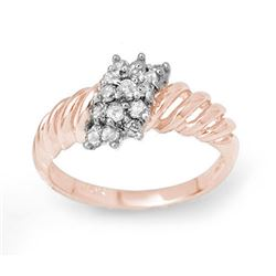 0.25 CTW Certified VS/SI Diamond Ring 14K Rose Gold - REF-33M6F - 14400