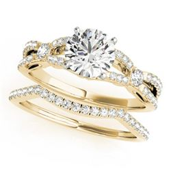 1.5 CTW Certified VS/SI Diamond Solitaire 2Pc Wedding Set 14K Yellow Gold - REF-378X2T - 31891