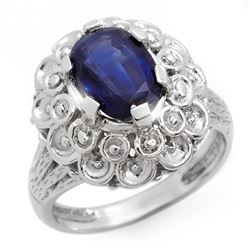 2.50 CTW Sapphire Ring 10K White Gold - REF-45M5F - 10090