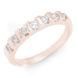 0.65 CTW Certified VS/SI Diamond Ring 14K Rose Gold - REF-57W8H - 11434