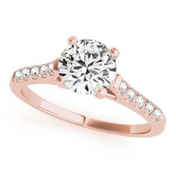 0.97 CTW Certified VS/SI Diamond Solitaire Ring 18K Rose Gold - REF-187K3R - 27580