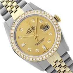 Rolex Ladies Two Tone 14K Gold/SS , Diamond Dial & Diamond Bezel, Saph Crystal - REF-368Z7Y