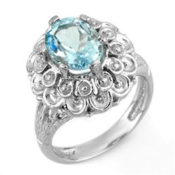 2.25 CTW Aquamarine Ring 10K White Gold - REF-36N2Y - 11166