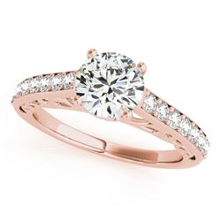 1.4 CTW Certified VS/SI Diamond Solitaire Ring 18K Rose Gold - REF-375H5W - 27649