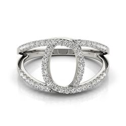 0.65 CTW Certified VS/SI Diamond Designer Fashion Ring 18K White Gold - REF-85R3K - 28277