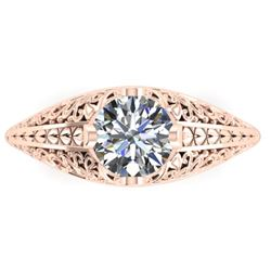 1 CTW Solitaite Certified VS/SI Diamond Ring 14K Rose Gold - REF-277K2R - 38524