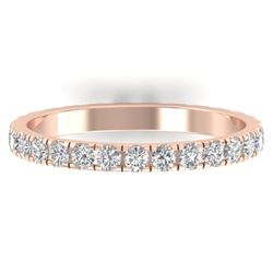 0.86 CTW Certified VS/SI Diamond Art Deco Eternity Band 14K Rose Gold - REF-52M8F - 30325
