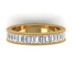 1.50 CTW Baguette Certified VS/SI Diamond Art Deco Eternity 14K Yellow Gold - REF-161T8X - 30320