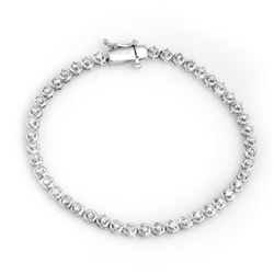 1.50 CTW Certified VS/SI Diamond Bracelet 10K White Gold - REF-123W3H - 11670