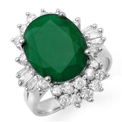 5.41 CTW Emerald & Diamond Ring 18K White Gold - REF-131M3F - 13275