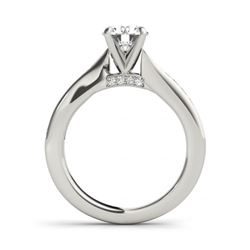 1.46 CTW Certified VS/SI Diamond Solitaire 2Pc Wedding Set 14K White Gold - REF-233M8F - 31676