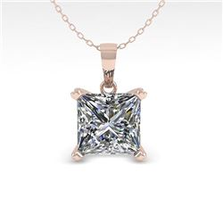 0.50 CTW VS/SI Princess Diamond Designer Necklace 18K White Gold - REF-97H8W - 32346