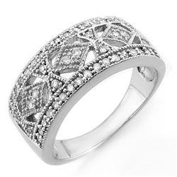 0.50 CTW Certified VS/SI Diamond Ring 14K White Gold - REF-64H5W - 11696
