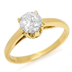 0.80 CTW Certified VS/SI Diamond Solitaire Ring 14K Yellow Gold - REF-236T2X - 11153