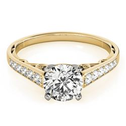 1.1 CTW Certified VS/SI Diamond Solitaire Ring 18K Yellow Gold - REF-184N4Y - 27515