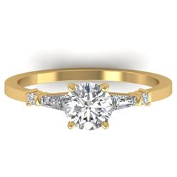 1.04 CTW Certified VS/SI Diamond Solitaire Ring 14K Yellow Gold - REF-179N6Y - 30392