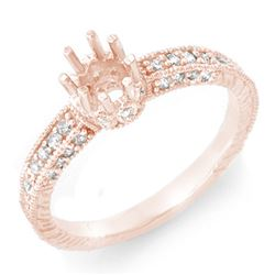 0.50 CTW Certified VS/SI Diamond Ring 14K Rose Gold - REF-41Y3N - 11030