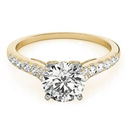 0.65 CTW Certified VS/SI Diamond Solitaire Ring 18K Yellow Gold - REF-76K5R - 27491