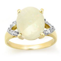 2.55 CTW Opal & Diamond Ring 10K Yellow Gold - REF-51F3M - 13362