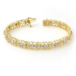 2.82 CTW Tanzanite & Diamond Bracelet 10K Yellow Gold - REF-69F3M - 14272
