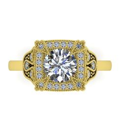 1.75 CTW Solitaite Certified VS/SI Diamond Ring 14K Yellow Gold - REF-496N4Y - 38555
