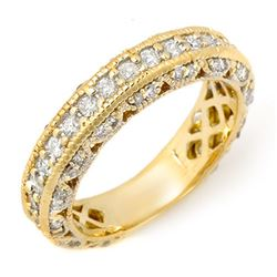 1.10 CTW Certified VS/SI Diamond Band 14K Yellow Gold - REF-102K8R - 11744