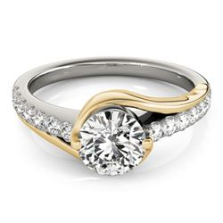 1.25 CTW Certified VS/SI Diamond Solitaire Ring 18K White & Yellow Gold - REF-388K2R - 28177