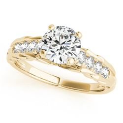 0.95 CTW Certified VS/SI Diamond Solitaire Ring 18K Yellow Gold - REF-194N2Y - 27536