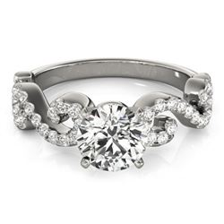 0.90 CTW Certified VS/SI Diamond Solitaire Ring 18K White Gold - REF-131H3W - 27852