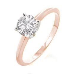 2.0 CTW Certified VS/SI Diamond Solitaire Ring 18K 2-Tone Gold - REF-840H3W - 13541