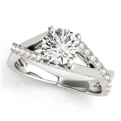 0.77 CTW Certified VS/SI Diamond Solitaire Ring 18K White Gold - REF-126R9K - 27498