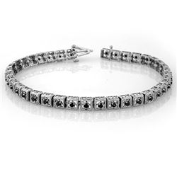 1.0 CTW Vs Certified Black Diamond Bracelet 10K White Gold - REF-72F2M - 10041