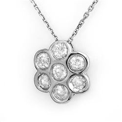 0.90 CTW Certified VS/SI Diamond Necklace 18K White Gold - REF-80N5Y - 11275