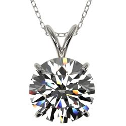 2.50 CTW Certified H-SI/I Quality Diamond Solitaire Necklace 10K White Gold - REF-834F2M - 33240