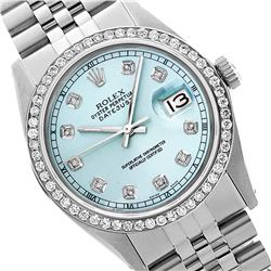 Rolex Ladies Stainless Steel, Diamond Dial & Diamond Bezel, Saph Crystal - REF-355W6K