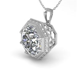 1 CTW VS/SI Diamond Solitaire Necklace 18K White Gold - REF-284N3Y - 35994