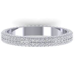 1.75 CTW Certified VS/SI Diamond Micro Eternity Ring 14K White Gold - REF-130R9K - 30267