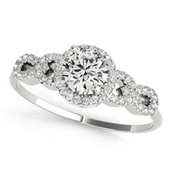 1.08 CTW Certified VS/SI Diamond Solitaire Ring 18K White Gold - REF-192N9Y - 27960