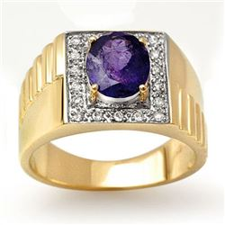 2.75 CTW Tanzanite & Diamond Ring 10K Yellow Gold - REF-69Y3N - 13483