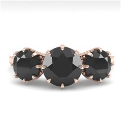2 CTW Past Present Future Black Diamond Ring 18K Rose Gold - REF-100F2M - 35777