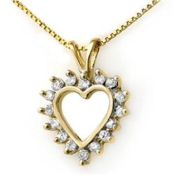 1.0 CTW Certified VS/SI Diamond Pendant 10K Yellow Gold - REF-70F2M - 12795