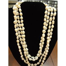Freshwater Pearl Necklace (Very Long)