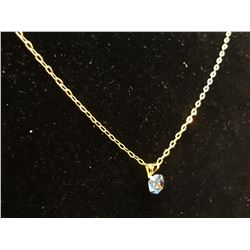 Gold over Sterling Chain with Topaz