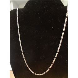 24 Inch Figaro Chain Sterling Silver