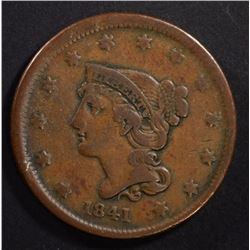 1841 LARGE CENT FINE KEY DATE