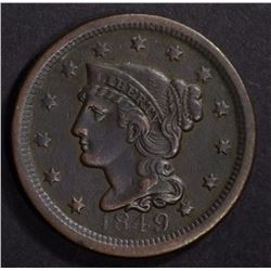 1849 LARGE CENT XF - BETTER DATE