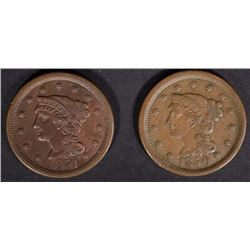 1850 & 1851 LARGE CENTS VF